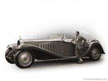 Jean Bugatti, son of Ettore Bugatti, with a 1932 Bugatti T41 Royale