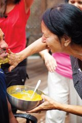 Sonny\'s Kohl\'s mother performs a cleansing ritual before the ceremony.