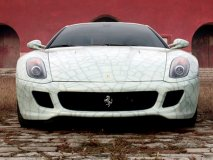 Lu Hao's hand-painted limited edition Ferrari.
