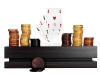 Vivre's poker set, complete with playing cards, chips and a chic wooden case.