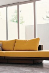 Canary yellow sofa from Suite 22 Interiors' Mimo Collection.