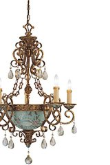 Tracy Porter's Celestine 5 light chandelier.