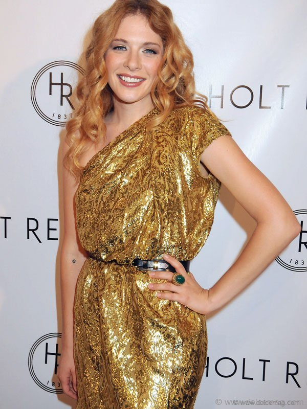 TORONTO, ON - SEPTEMBER 12: Actress Rachel Lefevre poses at the Holt Renfrew Launch of Vignettes With Alexa Chung, Coco Rocha And The Stills held at the Burroughes Building during the 2009 Toronto International Film Festival on September 12, 2009 in Toronto, Canada.