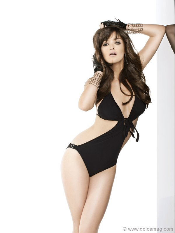 Shan black one-piece bathing suit.