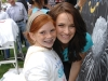 Actress Shantel VanSanten (Final Destination), with a SickKids child ambassador