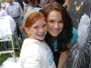 Actress Shantel VanSanten (Final Destination), with a SickKids child ambassador