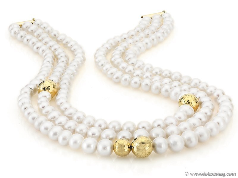 South Sea pearls with 18-karat gold detailing.