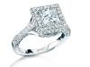 0.89-karat Princess Cut Pavé Ring.