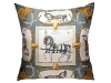 Grand Apparat Silk Scarf Hermes Pillow.