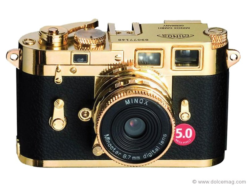 Leica's trendy M3 Gold Digital camera.
