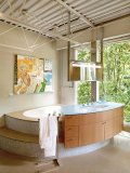 The master bedroom's ensuite includes this Jacuzzi tub