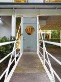 The gangplank-esque entrance conveys the sense of boarding a ship